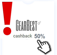 CashBack on GearBest - 50%